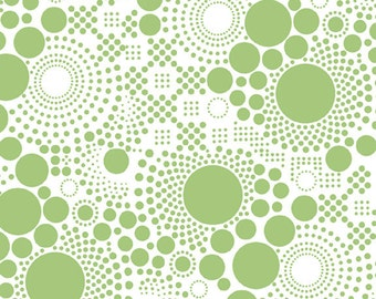 "Hipsters - Pop LIME ~ 100% Cotton Fabric ~ 1/2 yard ~ 18"" x 44"" ~ from Riley Blake ~ C521-03"