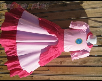 Princess Peach Inspired Custom Princess Dress Costume - Cotton Collection