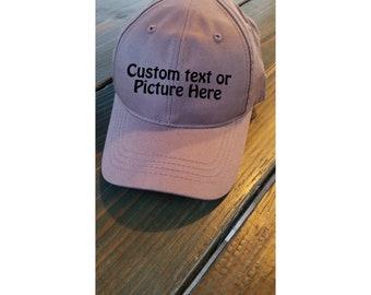 Custom Baseball Cap/ Your text/ Custom Picture hat/ photo hat/baseball cap/custom cap