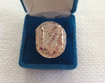 Men's Vintage silver ring with American Eagle  #607