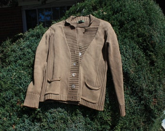 Tan Eddie Bauer Cardigan - Small