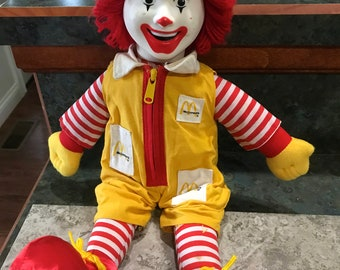 Vintage 1980 Era Ronald McDonald Doll 16 Inch