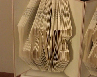 "Folded Book Art ""Love (block)"" - Made to Order"