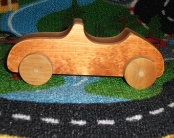 Handmade wooden 2-tone toy car (convertable)