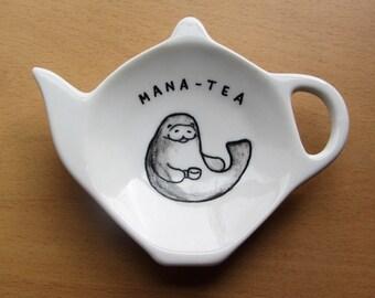 Mana-tea Tea Bag Tidy - Manatee - Spoon Rest