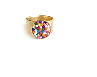 Sprinkle ring/gold • cocktail ring, statement ring, gifts for her