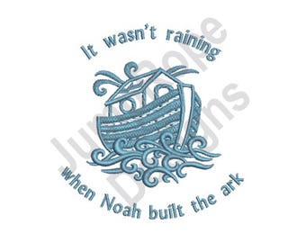 It Wasn't Raining - Machine Embroidery Design