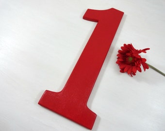Photo Props For Kids First Birthday Number One Wooden Numbers Hand Painted Wood Number Photo Props for Birthdays Bedroom Decor