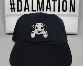 Dalmation dad hat, dog hat, dog mom cap, gift for dog lovers