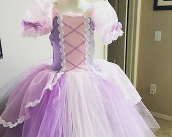 Rapunzel inspired tutu princess dress 5 Tangled inspired