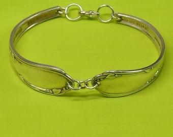 Silver Meadow Brook Spoon Bracelet, Silverware Jewelry
