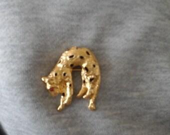 vintage leopard brooch/pendant