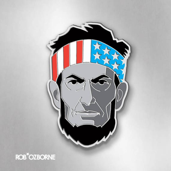 ABE LINCOLN Enamel Pin - Abraham Lincoln Pin - Collectible Art Pin by Rob Ozborne