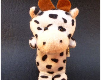 Small plush cow x 1 animal finger puppets