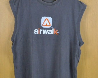 Vintage T Shirt Sleeveless Airwalk Famous Nice Shirt Men Clothing Adult Clothing Nice Sweatshirt
