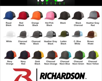 Personalized richardson trucker hat, Custom Embroidered hat, your text  here, your logo embroidery