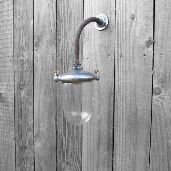 Industrial Swan Neck Light Large Exterior Outside Glass Lamp