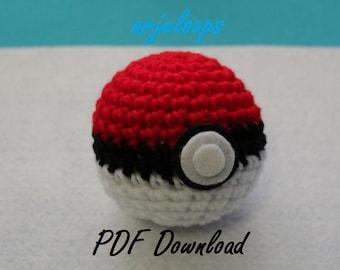 arjeloops - Crochet Pattern - Poke ball