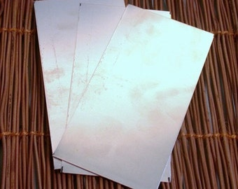 """Nickel silver 24 ga sheet 3x6 """" a low cost way to have silver color with your stampings"""