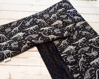 Set of fossil dinosaur blanket and pillow/pattern
