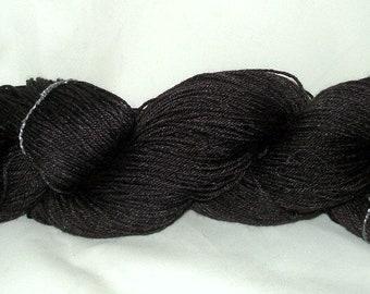 Black/Charcoal Tonal Umpqua Hand Dyed Fingering Weight Sock Yarn 4 oz  433 yards