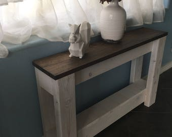 Sofa Side Table (reclaimed wood side table, wood table, small wood table, small side table, reclaimed wood table, mini sofa console)