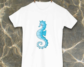 Seahorse Shirt, Cute Toddler Clothes, Unique Kids Clothes, Toddler tshirt, Kids beach clothes, Ocean, Fish, Beach Kid, Beach Baby