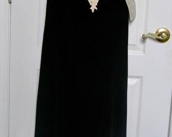 Vintage Linda Harris Velvet lace up dress