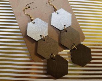 Brown Ombre Hexagon