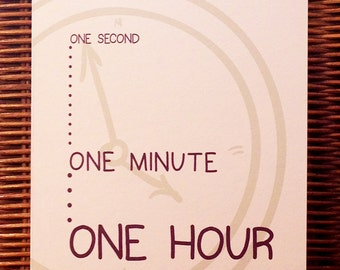 One Second, One Minute, One Hour, One Day At A Time - ODAAT