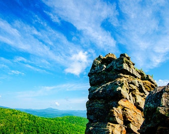 Landscape Photograph, Adirondack Scenery, Landscape Fine Art Print, Cloud Photo, Mountain Photography, Nature Prints, Adirondack Mountains