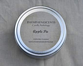Apple Pie Scented 6.5 oz. Soy Wax Wood Wick Candle Tin