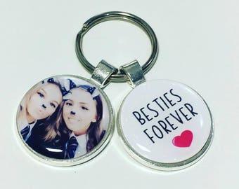 Bestie personalised keyring, Bestie photo keyring, Bestie photo gift, Bestie keychain, Bestie friend gifts, gift for bestie, Besties forever