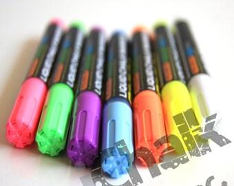 7 x Color Pen Set Liquid Chalk Marker 6mm - Chalkboard Marker Chalk Ink Pens