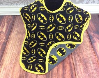 Batman toddler bib,todder bib, boys smock, boys todder bib, long sleeve bib, large bib, todder bapron - Toddler Size