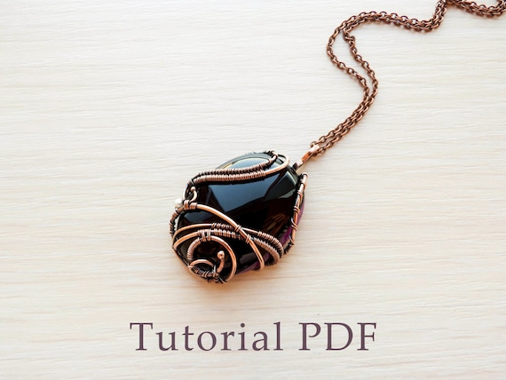 Wire wrapped pendant without soldering tutorial wire wrap diy wire wrapped pendant without soldering tutorial wire wrap diy project pendant with cabochon from ursulajewelry on etsy studio aloadofball Choice Image