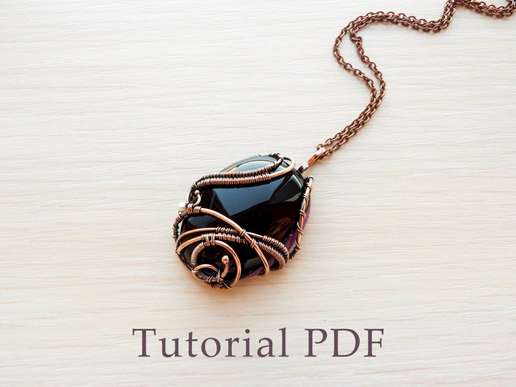 Wire wrapped pendant without soldering Tutorial wire wrap