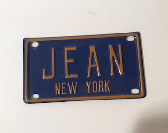 Vintage Mini License Plate New York JEAN