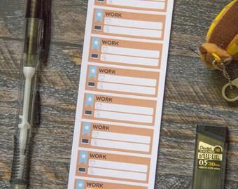 Work Weekly Scheduler Stickers / Matte & Writeable