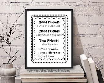 Best Friend Gift, Long Distance, Friendship Quote, Best Gift, Best Friend Decor, Best Friend, Moving Away, Best Friend Far Away, Gift Idea