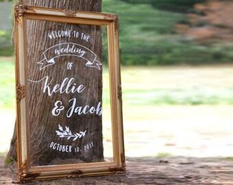Personalized Acrylic Wedding Sign, Clear Wedding Decor, 18x24, 24x36 Acrylic Sign, Plexiglass, Glass Decor