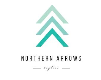 Mint Arrow Logo - Minimalist Pre-made logo design