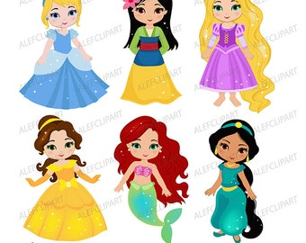 princess clipart etsy rh etsy com princess clip art for kids princess clipart black and white