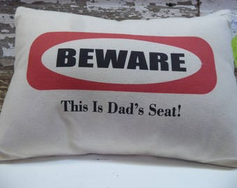 Decorative pillow, Sassy saying, Family pillow, Gift for Dad, Handmade