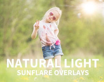 37 sun flare overlays for photoshop, natural light overlays, lens flare overlays