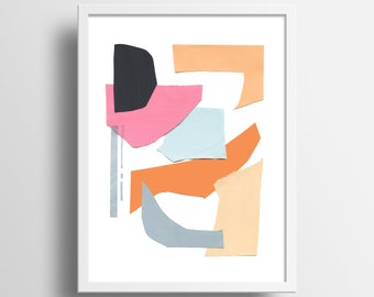 Secret, Print collage , Poster collage, Abstract Art Print, Minimalist print, minimal art, modern print, abstract geometric, geometric art
