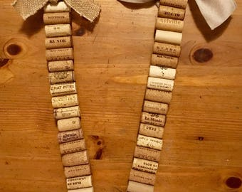 Cork memo strips, corks, cork art, notes, reminders, affirmations, art by carole, memos, memo strip, door hangers, doors, decorations