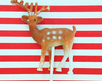 12 Deer Picks Craft Supply Sale Plastic Cupcake Decorations Cake Toppers