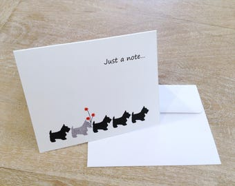 Pack of 6 Line of Scotties Note Cards