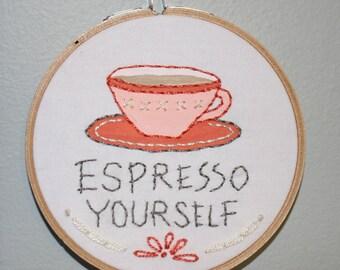 Espresso Yourself Needlework Sampler